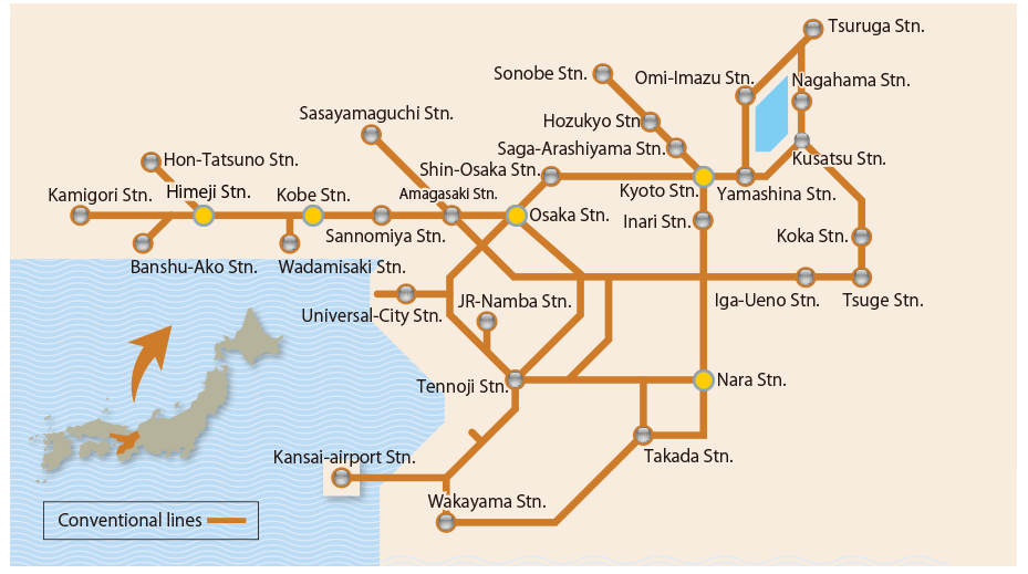 Book the Japan Rail West- Kansai Area Pass at International Rail